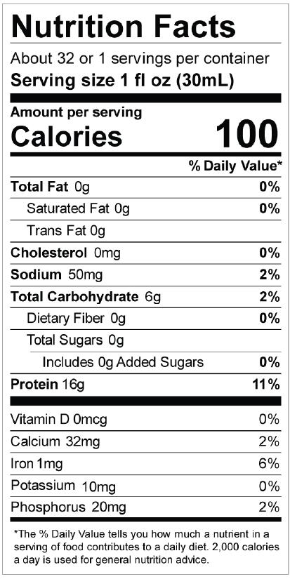 LiquaCel Nutrition Facts