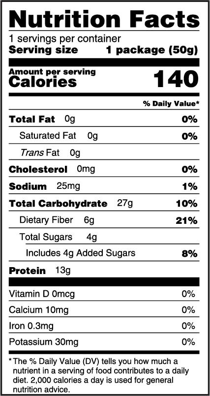 LiquaCel Protein Gummies Nutrition Facts